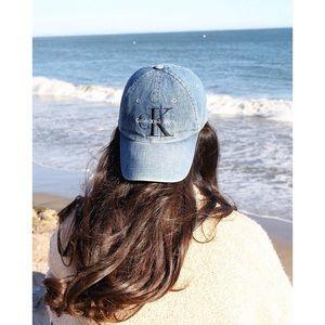 Calvin Klein Icy Blue Denim Hat
